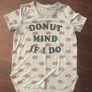 Donut mind if I do, girls tshirt